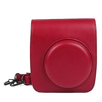 Adecuado para Fuji Instax Mini 90 Pu Case - Rojo