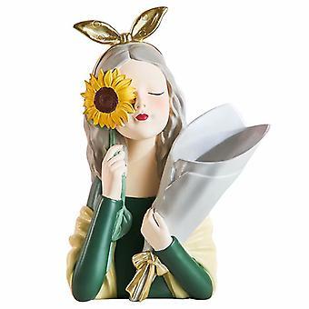 Ornements créatifs de décoration de tournesol fille