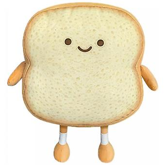 M Size Toast Slice Cute Expression Pillow Doll Cushion