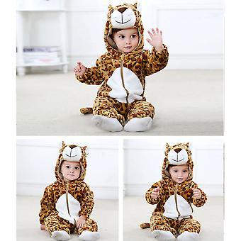 ヒョウの赤ちゃんロンパースパンダ新生児服赤ちゃんの女の子男の子の幼児服冬のジャンプスーツ幼児の赤ちゃんのセットユニコーンパジャマ
