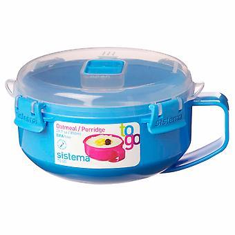 Sistema Klip It Microwave Porridge To Go, 850ml, Aqua