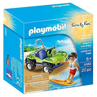 Playmobil-familie leuk Surfer met strand Quad 6982