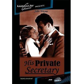 Importar de Estados Unidos de su secretario privado [DVD]