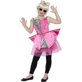 Dance Diva Kinderkostüm Gaga Kostüm Disco Lady