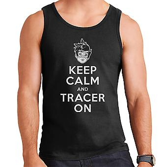 Keep Calm And Tracer On Overwatch Men's Vest
