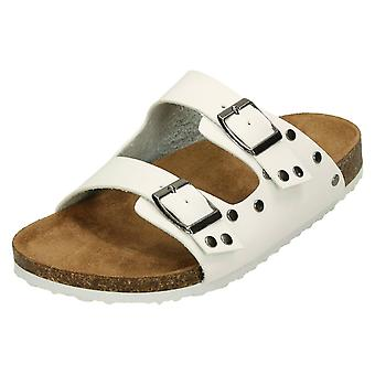 Ladies Down To Earth Double Buckle Strap Sandals F00049