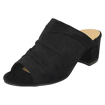 Doamnelor Anne Michelle Mid toc rouched Vamp mules F10771