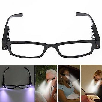 Verres de lunettes-presbyte Boolavard® TM Black LED lecture avec LED light Power/dioptrie ; + 2,5