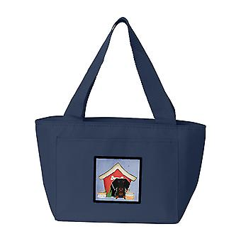 Dog House Collection Wire Haired Dachshund Black Tan Lunch Bag