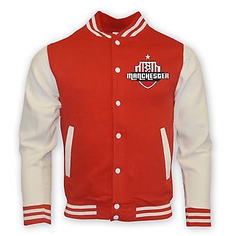 Man Utd Colegiul de baseball jacheta (rosu)-copii