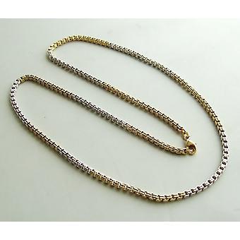 Christian 14 k bicolor necklace