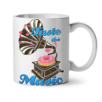 Taste Funny Donut Music NEW White Tea Coffee Ceramic Mug 11 oz | Wellcoda