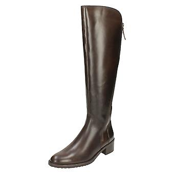 Ladies Clarks Riding Style Long Boots Valana Melrose