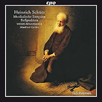 H. Schutz - Heinrich Sch Tz: Musikalische Exequien; Importer des bu USA Psalmen Cordes [CD]