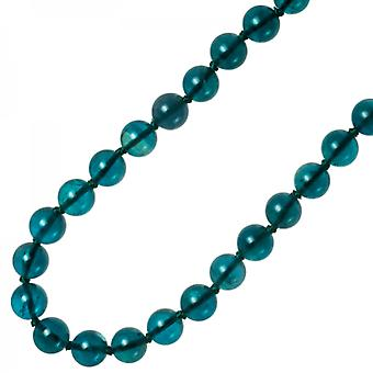 Shipton and Co Ladies Shipton And Co Exclusive Silver And 10mm Petrol Blue Flourite Beads 28 Inches Long BSS083FL