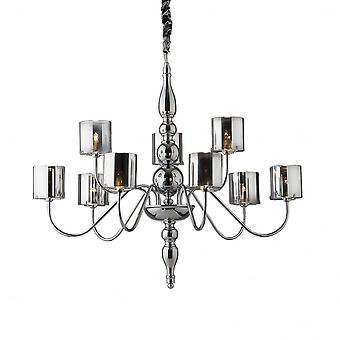 Ideal Lux Duca Modern 9 Arm Light Hanging Ceiling Pendant