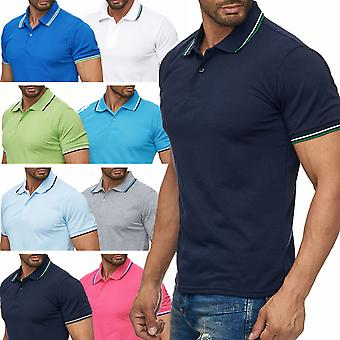 Men's Polo Shirt England short sleeve shirt leisure time summer club stand-up collar COLLEGE