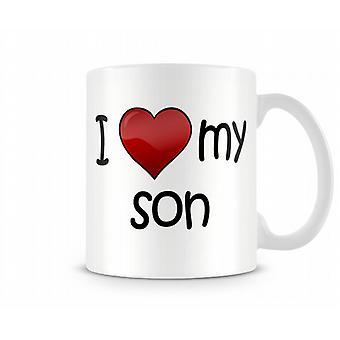 Ik hou van mijn zoon bedrukte mok