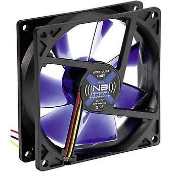 NoiseBlocker BlackSilent XE1 PC fan Black, Blue (transparent) (W x H x D) 92 x 92 x 25 mm