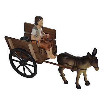 Nativity accessoires testing die Nativity DONKEY instellen karren Nativity scene houten kar