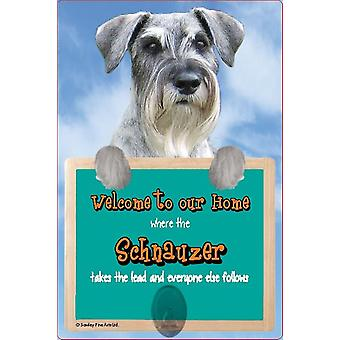 Scottish Collectables Schnauzer 3D Lead Hanger Wall Plaque