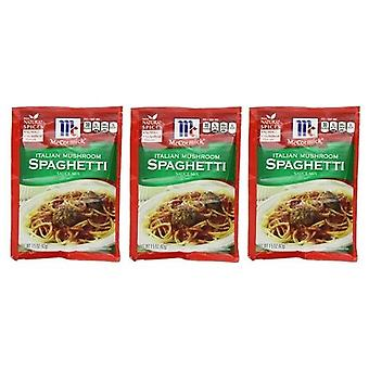 McCormick Italian Mushroom Spaghetti Sauce Mix 3 Packet Pack