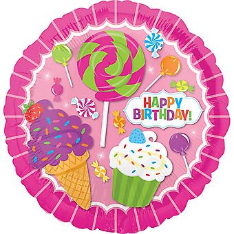 Anagram 18in Circular Sweet Shop Birthday Foil Balloon