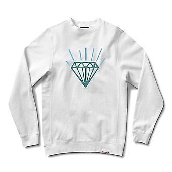 Diamond forsyning Co perle Crewneck hvit