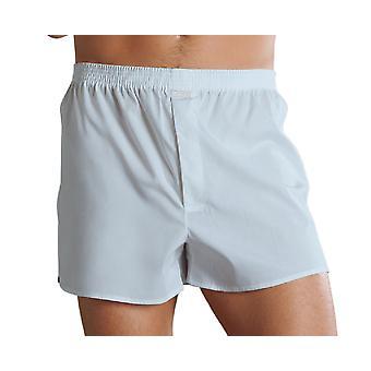 Jockey Mens Cotton Woven Boxer Short Underwear 314000 - Navy - Small 30-32 Waist