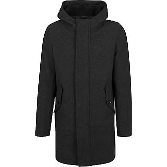 Urban classics men's parka hooded structured