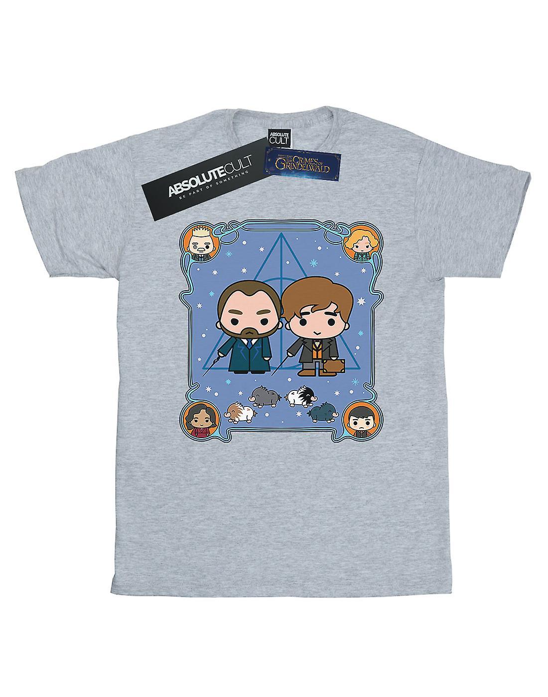 Fantastic Beasts Boys Chibi Newt And Dumbledore T-Shirt