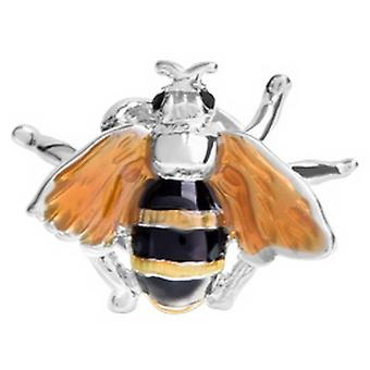 David Van Hagen Bee Design emali rintaneulan - hopea/musta/keltainen