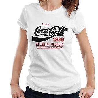 Coca Cola zwart klassieke Logo Dames T-Shirt