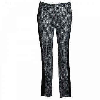 Michele Women's Herringbone Printed Panel Jeans