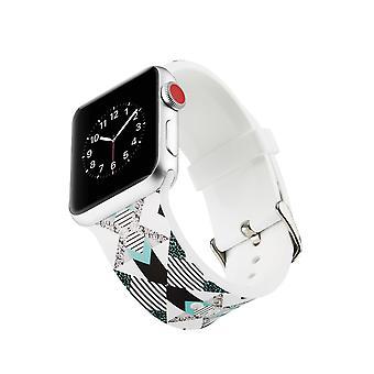 Klockrem silicone pour Apple Watch 4 3/2/1 44 mm, 42 mm à la verticale
