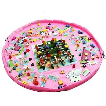 Storage Pouch/Playmat for toys-Pink