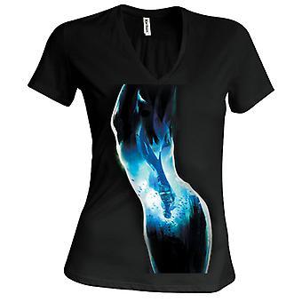 Batman Reflection Girlie V-Neck T-Shirt