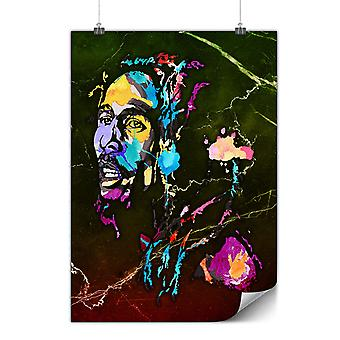 Matte or Glossy Poster with Marley Bob Colorful   Wellcoda   *y940