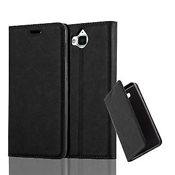 Huawei Y6 2017ケースカバー用カドラボケース - 磁気留め金付き電話ケース、スタンド機能とカードコンパートメント - ケースカバー保護ケースケースブック折りたたみスタイル