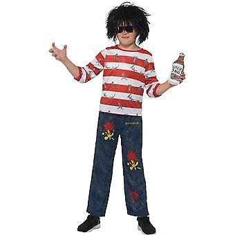 Дэвид Валлиамс Делюкс Крысбургер костюм, костюм, малого возраста 4-6