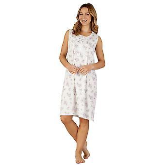 Algodão Jersey noite vestido Loungewear Nightdress Slenderella ND3105 feminino