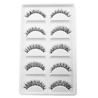 10pcs luxurious long false eyelashes-Nellie
