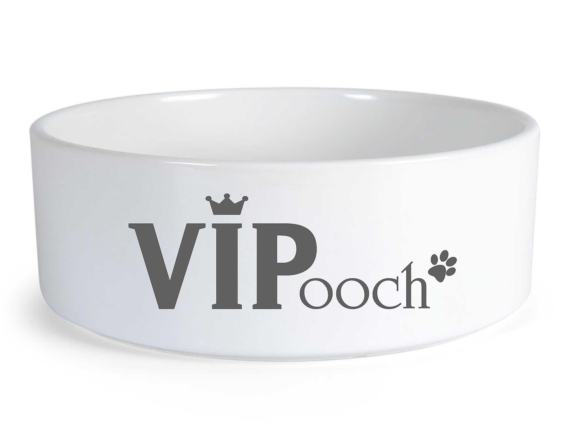 VIPooch perro de cerámica grande tazón de fuente