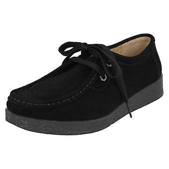 Ladies Eaze Flat Casual Lace Up Shoes