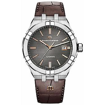 Maurice Lacroix Aikon Automatic Brown Leather Strap Anthracite Dial AI6008-SS001-331-1 Watch