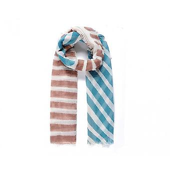 Intrigue Womens/Ladies Stripey Print Crinkle Scarf