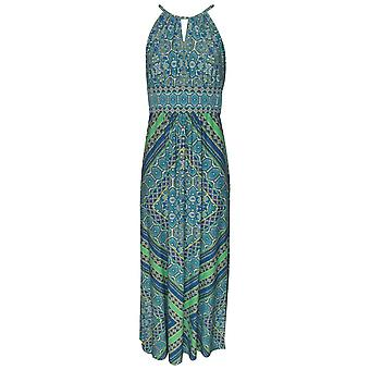 London Times Sleeveless Paisley Print Maxi Dress