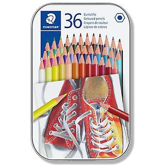 Staedtler färgad blyertspennor tenn av 36 blandade färger