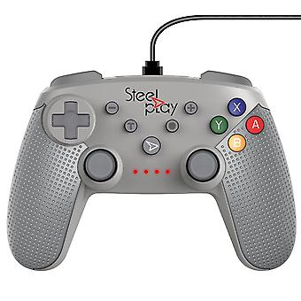 Steelplay-Wired Controller Classic SN Grey para Nintendo switch