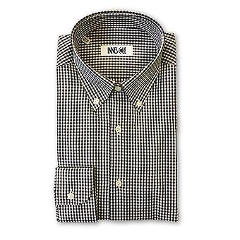 Ingram shirt in brown and white gingham